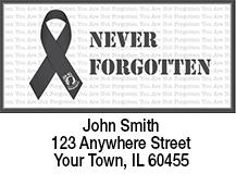 POW/MIA Never Forgotten Gray Ribbon Address Labels