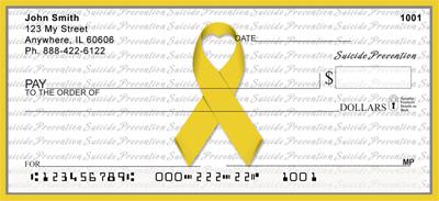 Suicide Prevention Yello Ribbon Checks