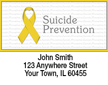 Suicide Prevention Yellow Ribbon Address Labels