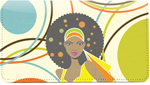 African Beauty Cloth Checkbook Cover