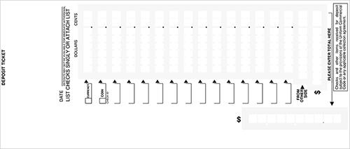 Loose Business Deposit Slips Style 11