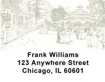 Black and Whites Address Labels