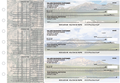 Business Checks Store -  Scenic Mountains Multi Purpose Designer Business Checks