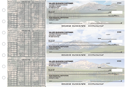 Business Checks Store -  Scenic Mountains Payroll Designer Business Checks