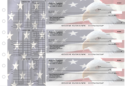 Business Checks Store -  American Flag Multi Purpose Designer Business Checks