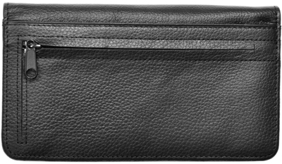 Black Leather Zippered Cover