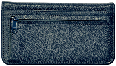 Blue Leather Zippered Cover