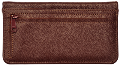 Burgundy Leather Zippered Cover