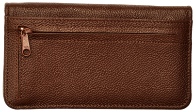 Dark Brown Leather Zippered Cover