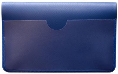 Blue Vinyl Debit Card Cover