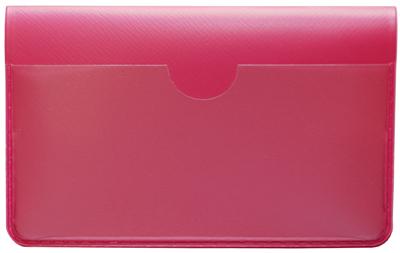Hot Pink Vinyl Debit Card Cover