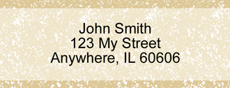 Parchment Rectangle Address Labels