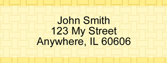 Yellow Safety Rectangle Address Label