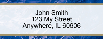 Blue Marble Rectangle Address Label