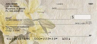 Floral parchment checks personal checks for New check designs
