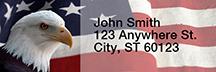 Soaring Over America Rectangle Address Label