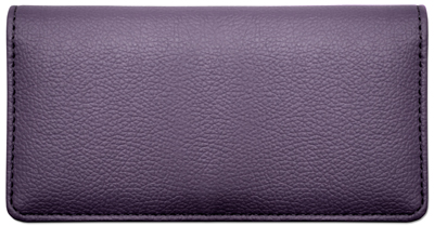 Dark Purple Textured Leather Cover