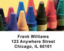 Crayons Address Labels