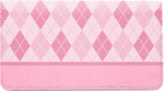 Argyle Pink Leather Cover