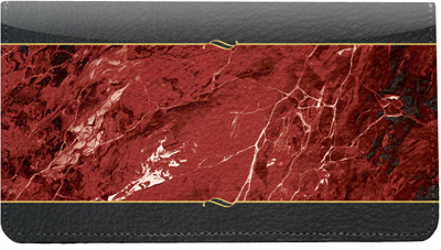 Burgundy Marble Leather Cover