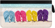 Flip Flop Zippered Checkbook Cover