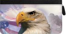 American Eagle Pride Zippered Checkbook Cover