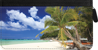 Beachfront Views Zippered Checkbook Cover