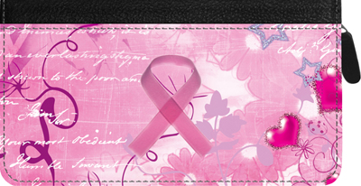 Breast Cancer Zippered Checkbook Cover