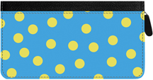 Dots Zippered Checkbook Cover