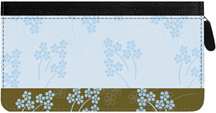 Soft Vines Zippered Checkbook Cover