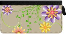 Garden Fresh Zippered Checkbook Cover