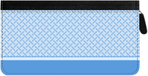 Blue Safety Zippered Checkbook Cover