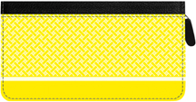Yellow Safety Zippered Checkbook Cover
