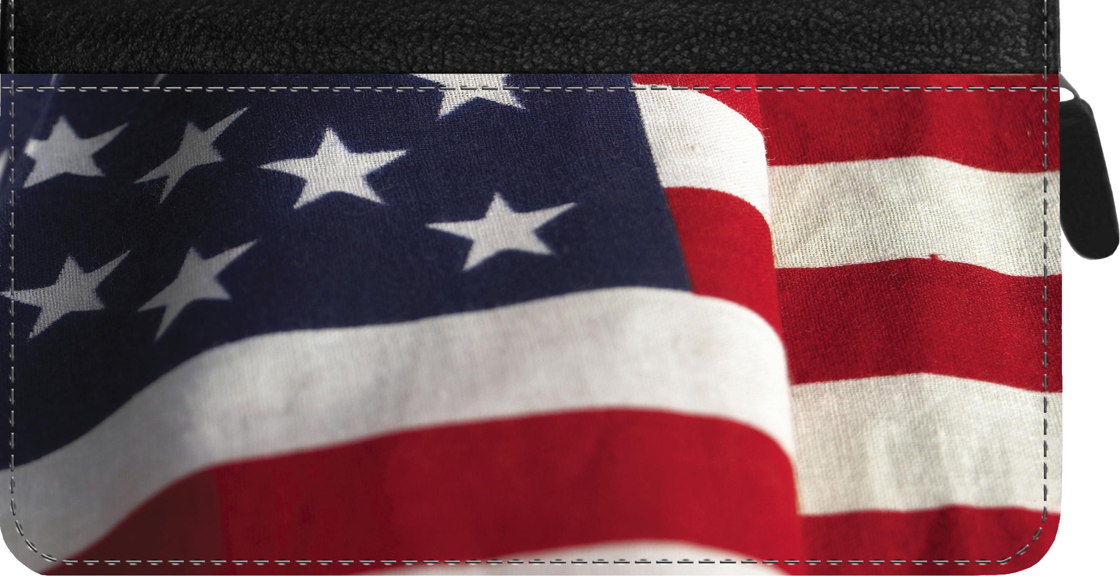 American Pride Zippered Checkbook Cover