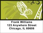 Butterflies On Green Address Labels