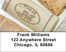 Popin Corks Address Labels