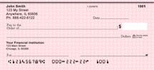 Pink Safety Personal Checks