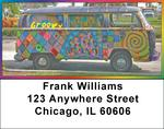 Groovy Hippie Bus Address Labels