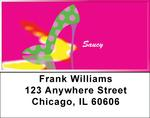 Hot Pink And Saucy Address Labels