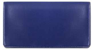 Blue Vinyl Checkbook Cover