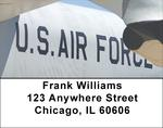On Metal Air Force Address Labels
