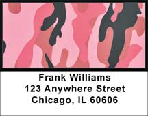 Camouflage - Pinks And Corals Address Labels