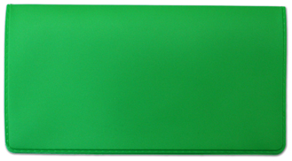 Lime Green Vinyl Check Book Cover