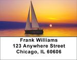Sailboats At Sunrise Address Labels