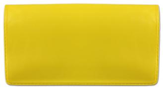 Yellow Vinyl Check Book Cover
