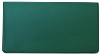 Jade Green Vinyl Check Book Cover