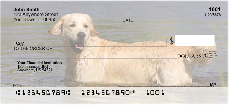 Golden Retriever Personal Checks