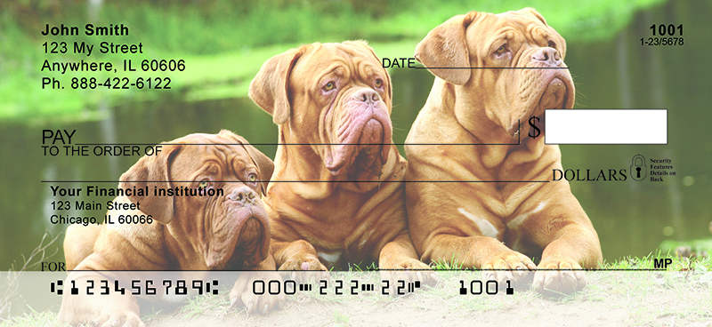 Majestic Mastiff Personal Checks