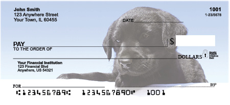 Labrador Retriever Personal Checks - Black Lab Puppy Checks
