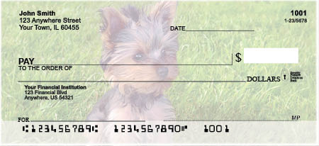 Yorkies Personal Checks $ 12.99